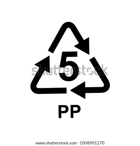 Plastic Recycling Symbol 5 Pp Stock Photo Photo Vector