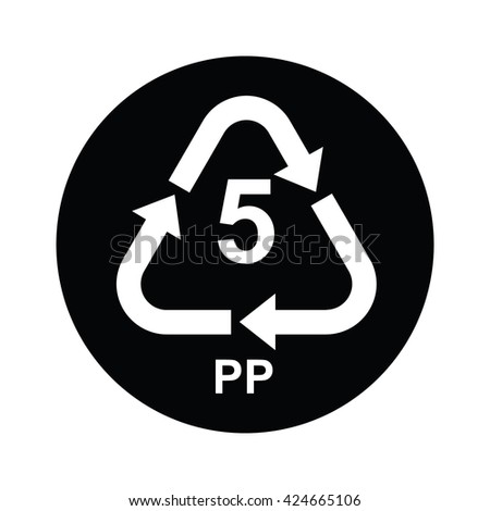 Plastic Recycling Symbol Pp 5 Vector Stock Vector 424665106