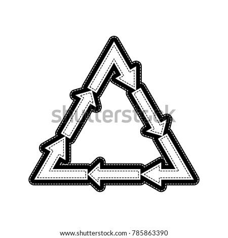 Plastic Recycling Symbol Pvc 3 Plastic Stock Vector 785863390