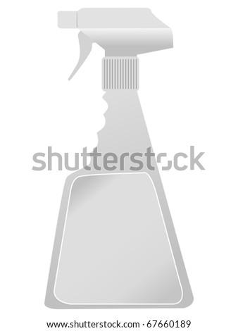 plastic spray bottle - stock vector