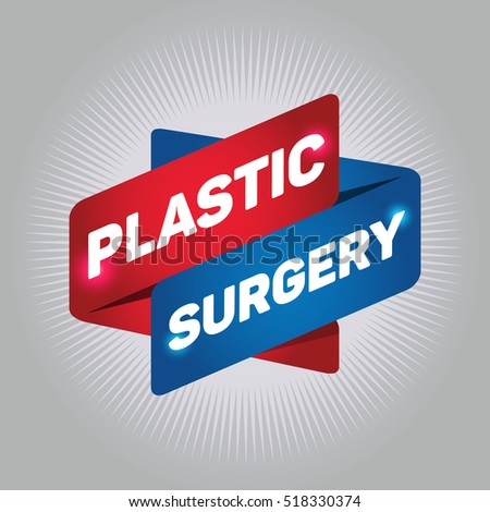 PLASTIC SURGERY arrow tag sign.