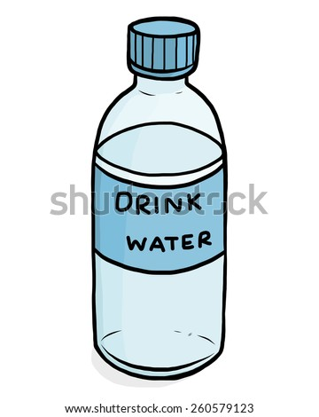 plastic water bottle cartoon vector illustration stock vector rh shutterstock com