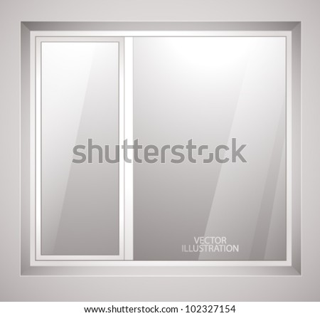 Plastic window. Vector illustration - stock vector