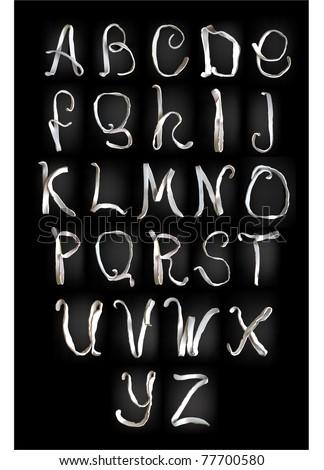 plasticine alphabet - stock vector
