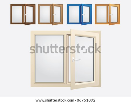 plastics glasses color windows - vector
