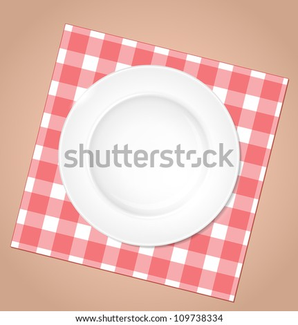plate - stock vector