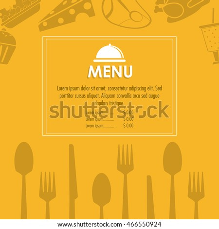 plate cutlery menu restaurant kitchen icon. Colorfull illustration. Vector graphic