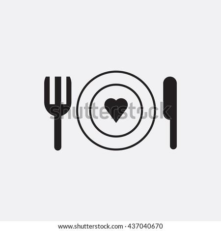 Plate fork and knife Icon, Plate fork and knife Icon Eps10, Plate fork and knife Icon Vector, Plate fork and knife Icon Eps, Plate fork and knife Icon Jpg, Plate fork and knife Icon - stock vector