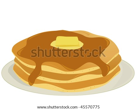 Plate of pancakes - vector version