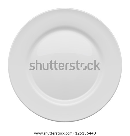 Plate on white background. Vector illustration - stock vector