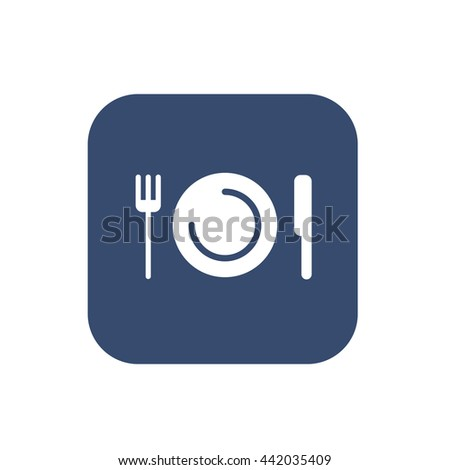 Plate with fork and knife restaurant menu icon  sc 1 st  Shutterstock & Plate Fork Knife Restaurant Menu Icon Stock Photo (Photo Vector ...