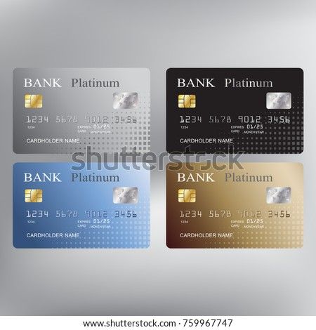 Gold Credit Card With Diamonds