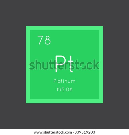 Platinum Simple Style Tile Icon Chemical Stock Vector 339519203