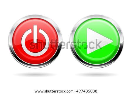Standby stockbilder und bilder und vektorgrafiken ohne play and standby buttons web icons with chrome frame vector illustration isolated on white altavistaventures Gallery