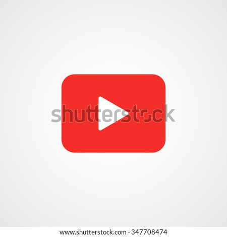 Play button icon - stock vector
