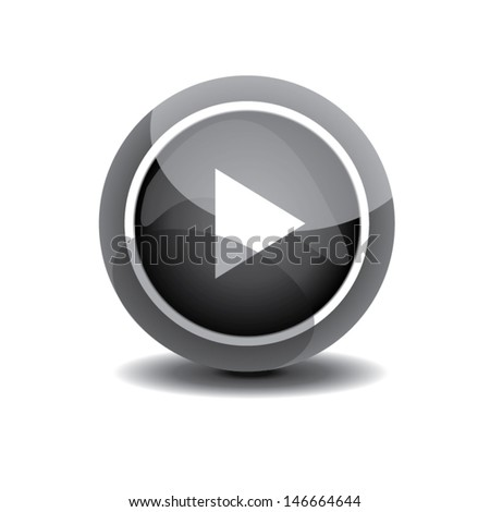 play button pause. vector illustration
