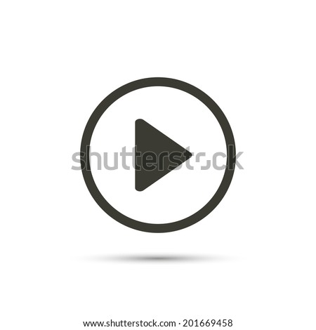 Play button web icon - stock vector