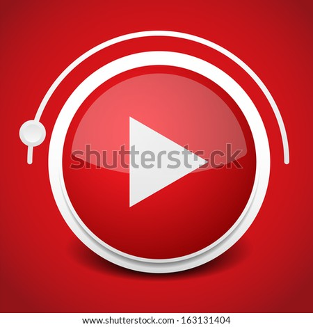 Play button with adjuster - stock vector