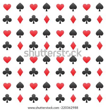Play cards symbols vector seamless pattern