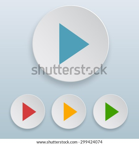 play icon - stock vector