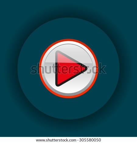 play. icon. vector design - stock vector