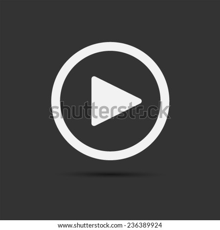play icon Vector EPS 10 illustration. - stock vector