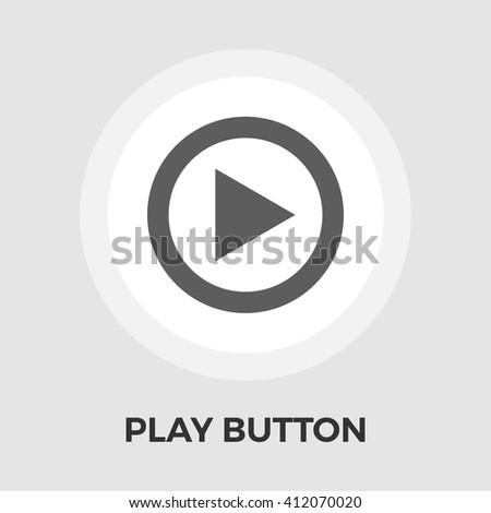 Play icon vector. Flat icon isolated on the white background. Editable EPS file. Vector illustration. - stock vector