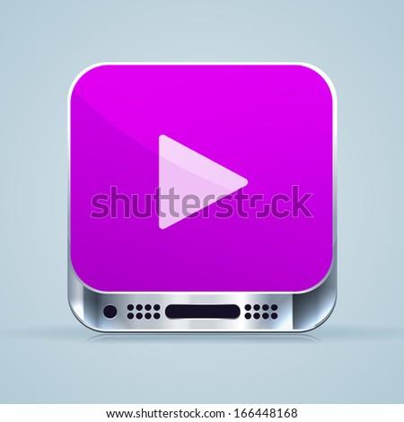 Play icon. Vector icon. EPS 10. - stock vector