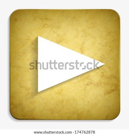 play parchment icon - stock vector