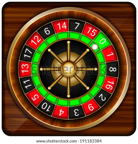 play roulette abstract vector illustration isolated on background eps 10 / play roulette