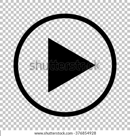 Play sign. Flat style icon on transparent background - stock vector