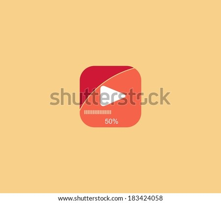 play sign icon - stock vector
