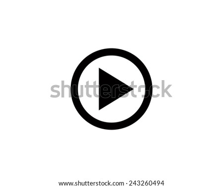 play vector icon - stock vector