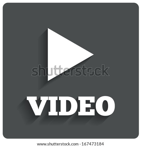 Play video button. Player navigation. Vector illustration. - stock vector