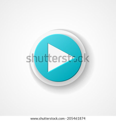 Play web icon on white background - stock vector