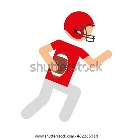 player american football icon vector illustration design