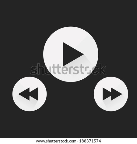 player buttons  - stock vector