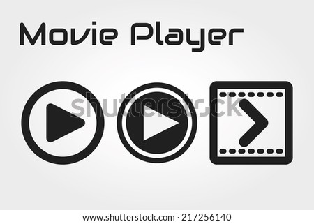 Player icon - stock vector