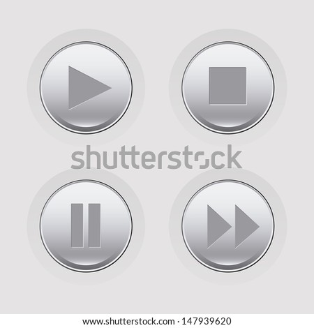 players control over gray background vector illustration  - stock vector