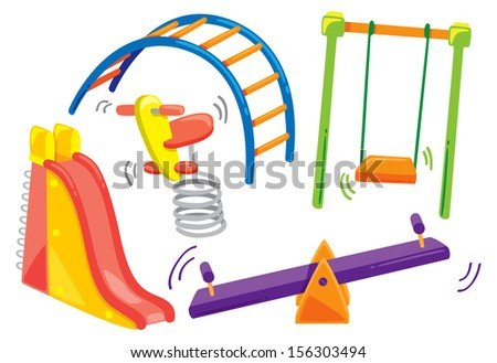 playground doodle - stock vector