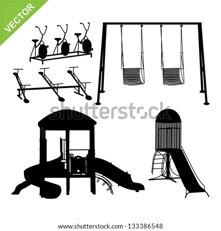 Playground silhouettes vector