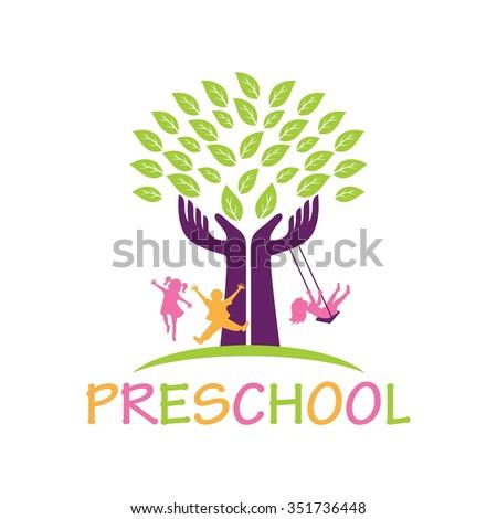 preschool logos kindergarten stock photos royalty free images amp vectors 110