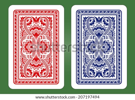 Playing Card Back Designs. - stock vector