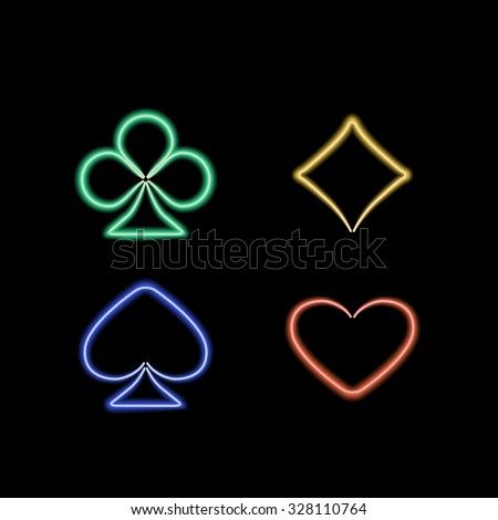 Playing card suit. Vector illustration - stock vector