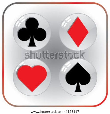 playing card suits - stock vector