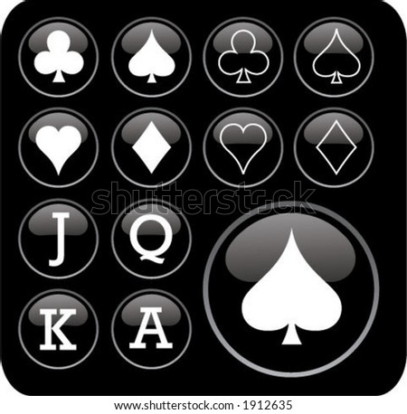 playing card symbols - stock vector