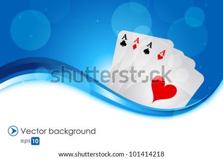 Playing cards - stock vector