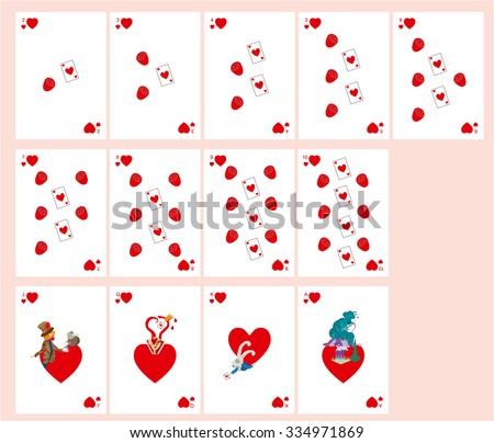 Playing Cards Alice Wonderland Suit Patterns Vector de ...