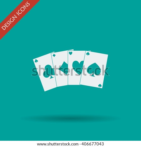 playing cards icon. Flat design style eps 10