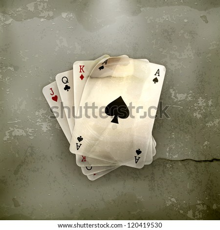 Playing Cards, old-style vector - stock vector